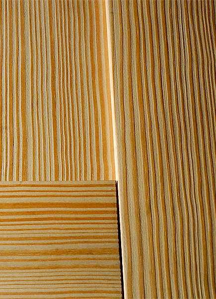 brushed yellow pine door frame